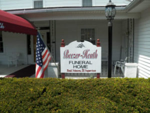 Beezer-Heath Funeral Home Sign